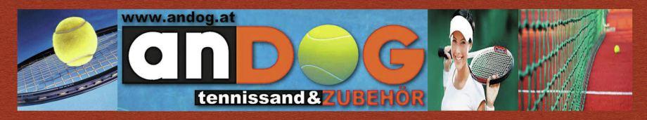 Tennisnetze, Tennisplatzlinien, Scharrierer, Matchpointer, Rollkornschaber, Ziegelmehlschieber